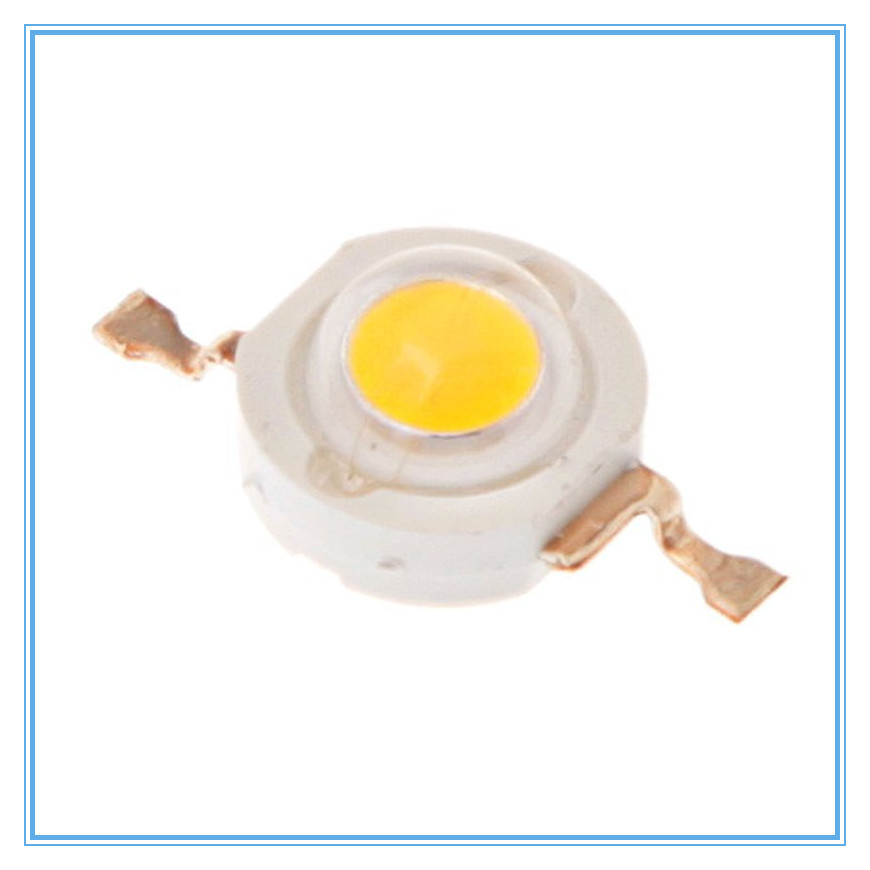 500 шт./лот, белый/теплый белый 1 Вт 100-110lm светодиодные лампы Бусины чип излучатель Освещение Бесплатная доставка