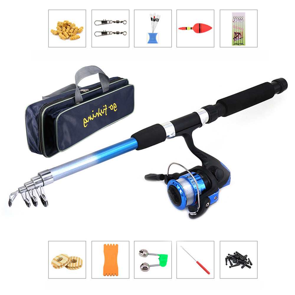 Olta Takimlari Fishing Set Rod Combo and Reel Full Kit W/ Portable Fishing Storage Bag Spinning Reel Gear Pole Set Lures Hooks(China)
