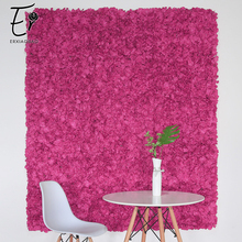 Erxiaobao Simulation Pink Red Petal Hydrangea Artificial Flower Wall Background Wedding Shop Fake Indoor Decoration
