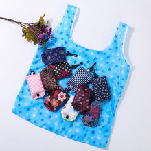 New Fashion Foldable Handy Shopping Bag Tote Pouch Floral mobile shopping bag Eco supermarket creative gift bag portable compact(China)
