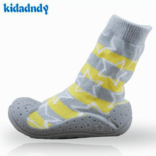 2016 new Cotton Baby Socks Newborn Shoes Anti Slip Baby Socks with Rubber Soles Toddler Indoor Shoes Infant Socks WS927 цены онлайн