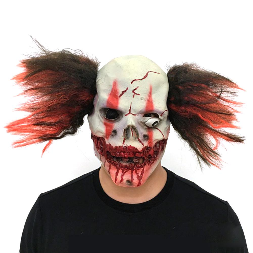 2018 Brand New Ghost Festival Cosplay Scary Clown Mask Headgear Halloween Party Carnival Latex Mask Headgear Female Male