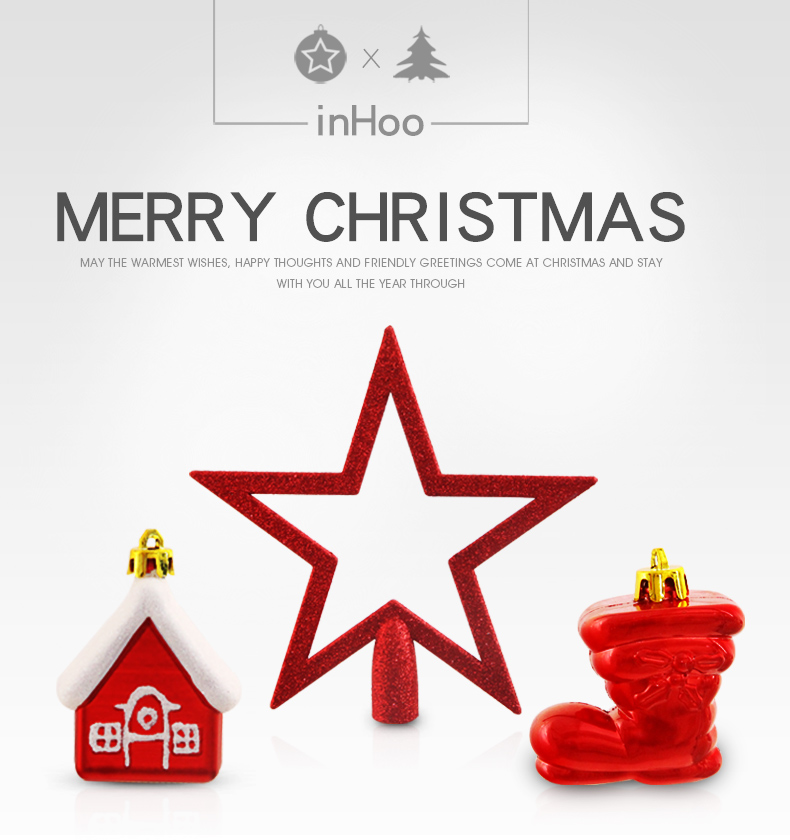 01 inhoo 80pcsset Christmas Tree Ball Ornaments Gift Polystyrene Balls Xmas Party Hanging Ball Merry Christmas Decor for Home 2019