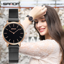 все цены на Luxury Brand Fashion Simple Watch Women Ladies Dress Quartz Wrist Watches Magnet Mesh Waterproof Clock Female relogio feminino онлайн