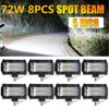 CO LIGHT LED Work Light 5 Inch 72W Offroad Led Bar Spot Led Beams For Tractor
