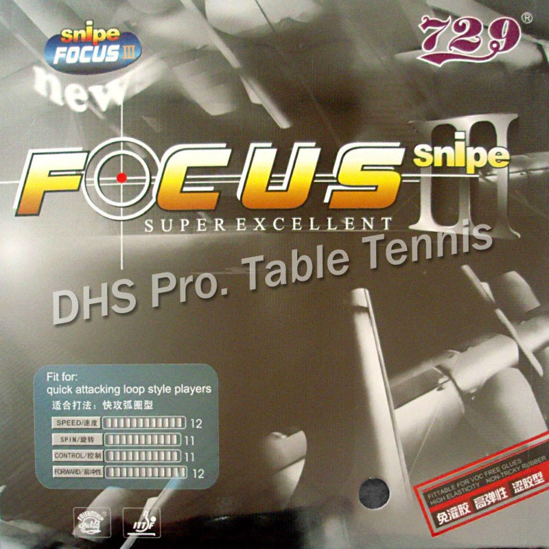 RITC <font><b>729</b></font> Friendship FOCUS III FOCUS3 Snipe pips-in table tennis pingpong rubber with sponge 2.1mm image