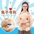 Big Size 55 cm Linda Mochila Escolar Kawaii Coelho de Pelúcia mochila Japão Saco De Coelho De Pelúcia Macia Brinquedos para Aniversário Das Meninas presente
