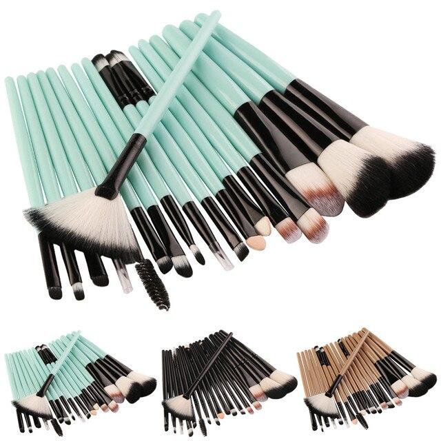 Juego de brochas de maquillaje de 18 piezas, Kit de maquillaje, juego de brochas de maquillaje de lana, juego de brochas de moda, bonito y colorido pincel, maquiagem 2019 # ws
