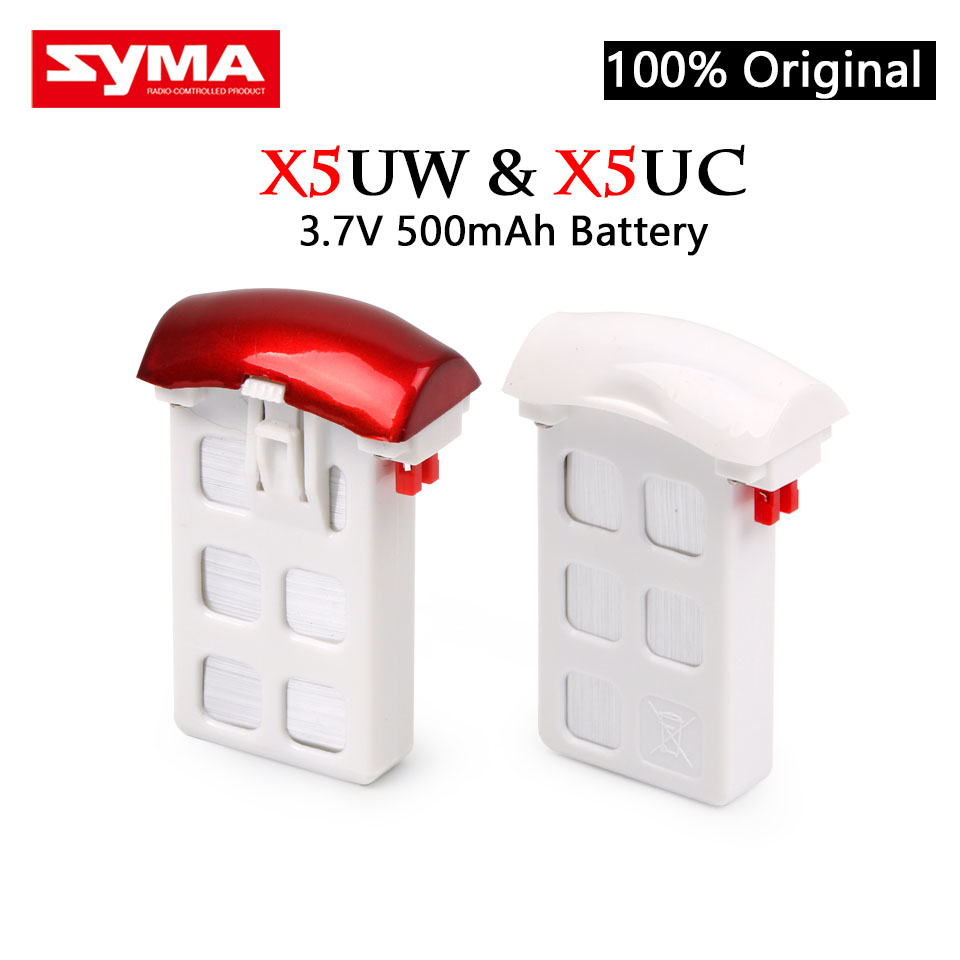100% Original Syma X5UW Syma X5UC RC Quadcopter Battery Capacity 3.7V 500mAh Lipo Battery RC Drone Battery Spare Parts syma x5uc x5uw 4pcs protection ring