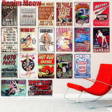 Rocket Motor Oil Plaque Vintage Metal Tin Signs Home Bar Garage Decorative Metal Plates Hot Rod Wall Stickers Art Poster N213 поло print bar rocket