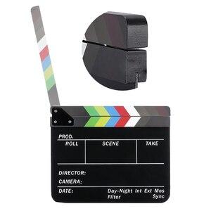 Image 5 - Yönetmen Video sahne klaket klaket kurulu akrilik kuru silme direktörü TV Film Film eylem kayrak alkış el yapımı Cut Prop