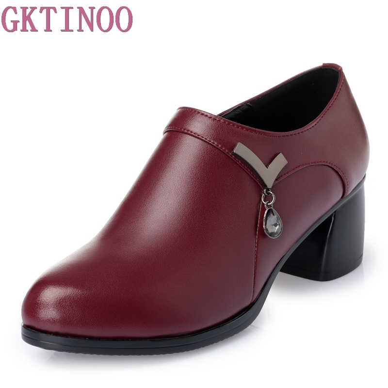 Spring Autumn New Shoes Women OL Pumps Spring Mid Heels Offical Comfortable Soft Leather Shoes Size 35-41Spring Autumn New Shoes Women OL Pumps Spring Mid Heels Offical Comfortable Soft Leather Shoes Size 35-41