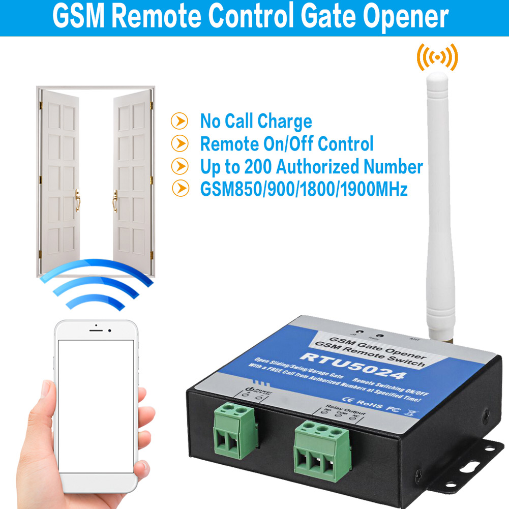 GSM Door Opener Wireless Gate Operator Mobile Phone Remote Control Gate Opener EM88GSM Door Opener Wireless Gate Operator Mobile Phone Remote Control Gate Opener EM88