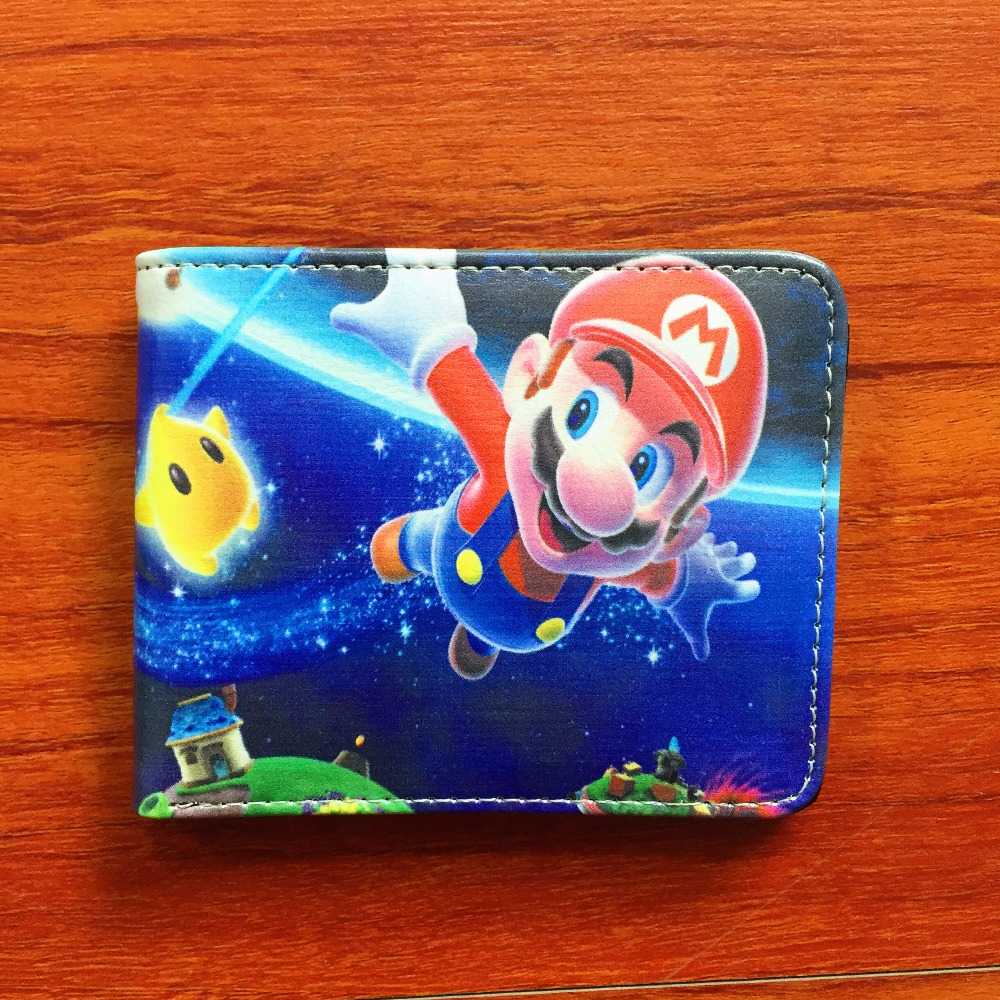 New arrivel Super Mario World Wallet Leather Folded Purse Cartoon Creative Short Wallets W612