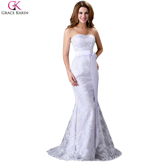 Cheap sexy white and silver wedding dresses