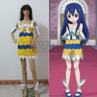 Free Shipping Custom Made Fairy Tail Wendy Marvell Cosplay Costume