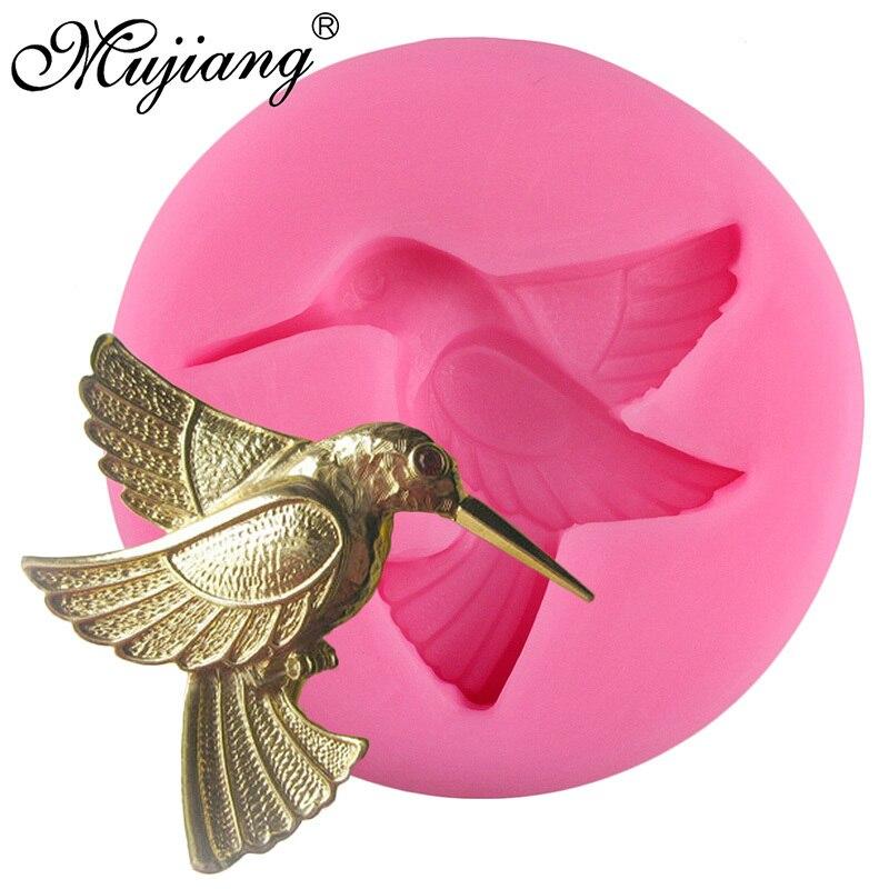 Mujiang 3D Baking Silicone Mold Birds Soap Resin Clay ...