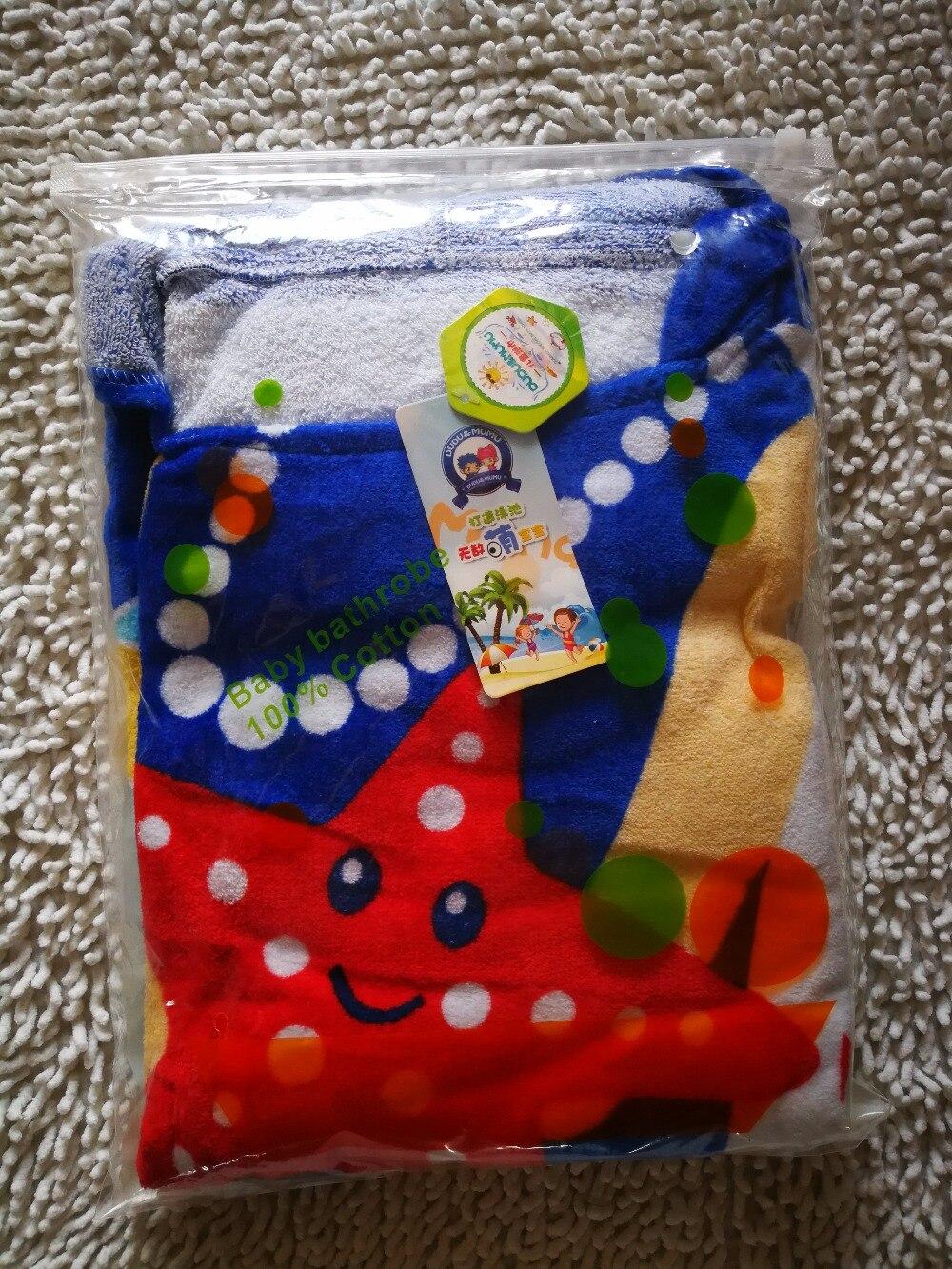Sea star детское банное полотенце/детские халаты/с капюшоном купальный халат для младенцев
