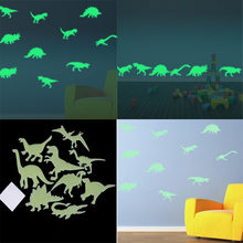 9 stks/pak Dinosaurus Glow In The Dark speelgoed Stickers Lichtgevende Home Decor Decal Baby Kinderkamer Fluorescerende Stickers voor kids gift(China)