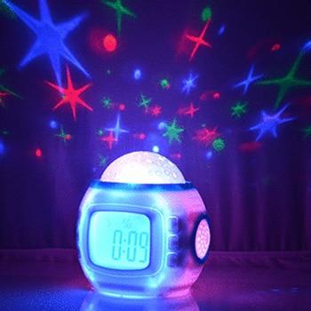 Electronic Clocks Led Night light Sleep Clock Color Change Starry Night Sky Star Projection Music Digital Clock