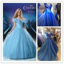 Blau Kleider Butter Fliegen Mädchen Lange Abendkleid 2016 Ballkleid Weg Vom Schulter Organza BlingBling Abendkleid HD38