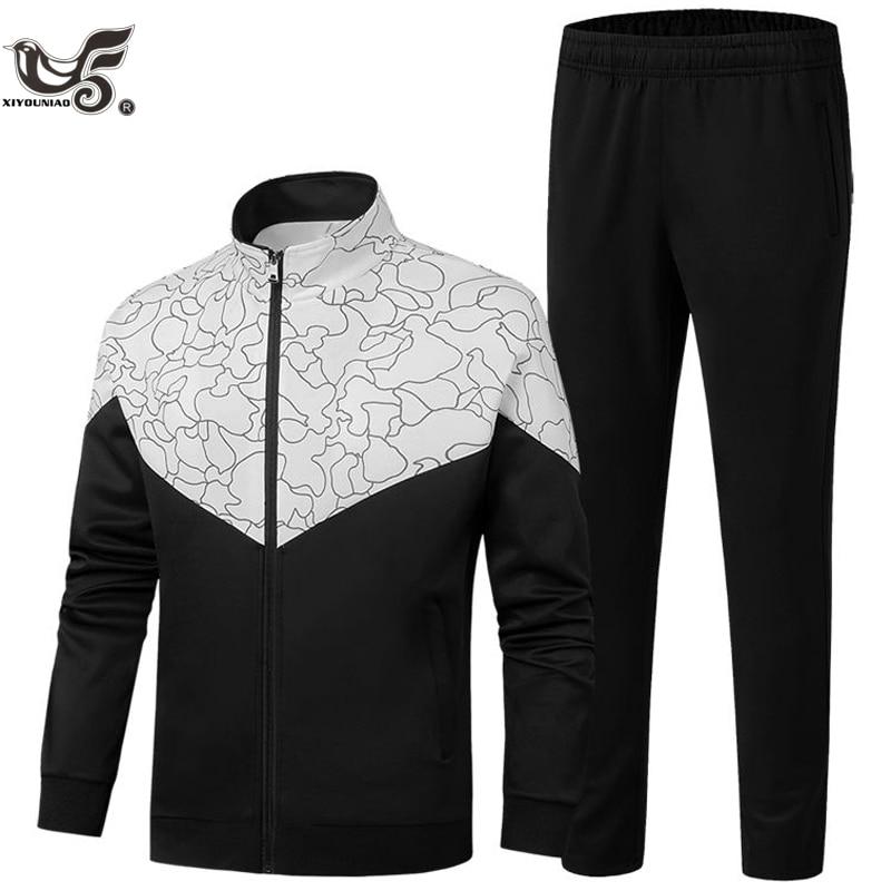Brand New Men Sets Fashion Autumn Spring Sporting Suit Sweatshirt +Sweatpants Mens Clothing 2 Pieces Sets Slim Tracksuit Men