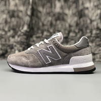 NEW BALANCE NB995 men Blue Badminton Shoes Grey Lace up Outdoor Sneaker Anti slip Spring Shoes For Lady