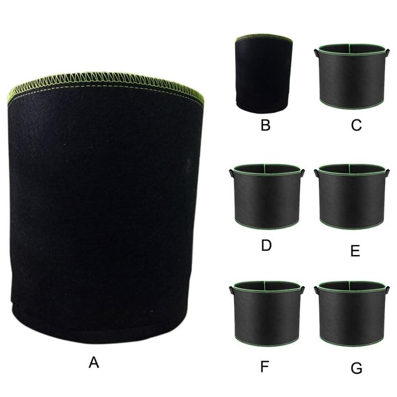 Vegetable Flower Aeration Planting Pot Black Plants Growing Bag Container Green Edge Plant Bag Gardening Tools