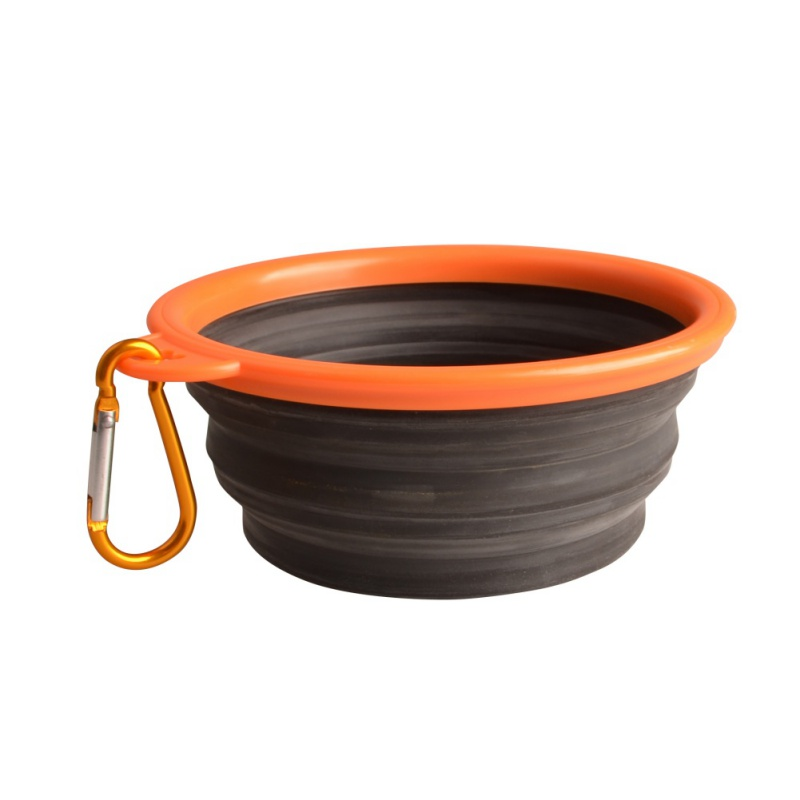 High Quality Portable Outdoor Travel Pet Dog Bowl Silicone Folding Bowls Food Drinking Water Product Dog Bowls #2