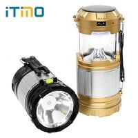 ITimo Emergency Lamp Lantaarn Lichtgewicht Inklapbare Hand Licht Led Camping Licht Draagbare Voor Wandelen Camper Tent Zonne-energie