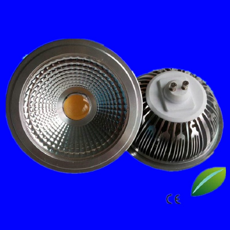 Free AR111 QR111 ES111 GU10 <font><b>LED</b></font> Lamp 15W Input AC85-265V/DC12V Spotlight COB Light Ampoule <font><b>G53</b></font> Warm White / Cool White Dimmable