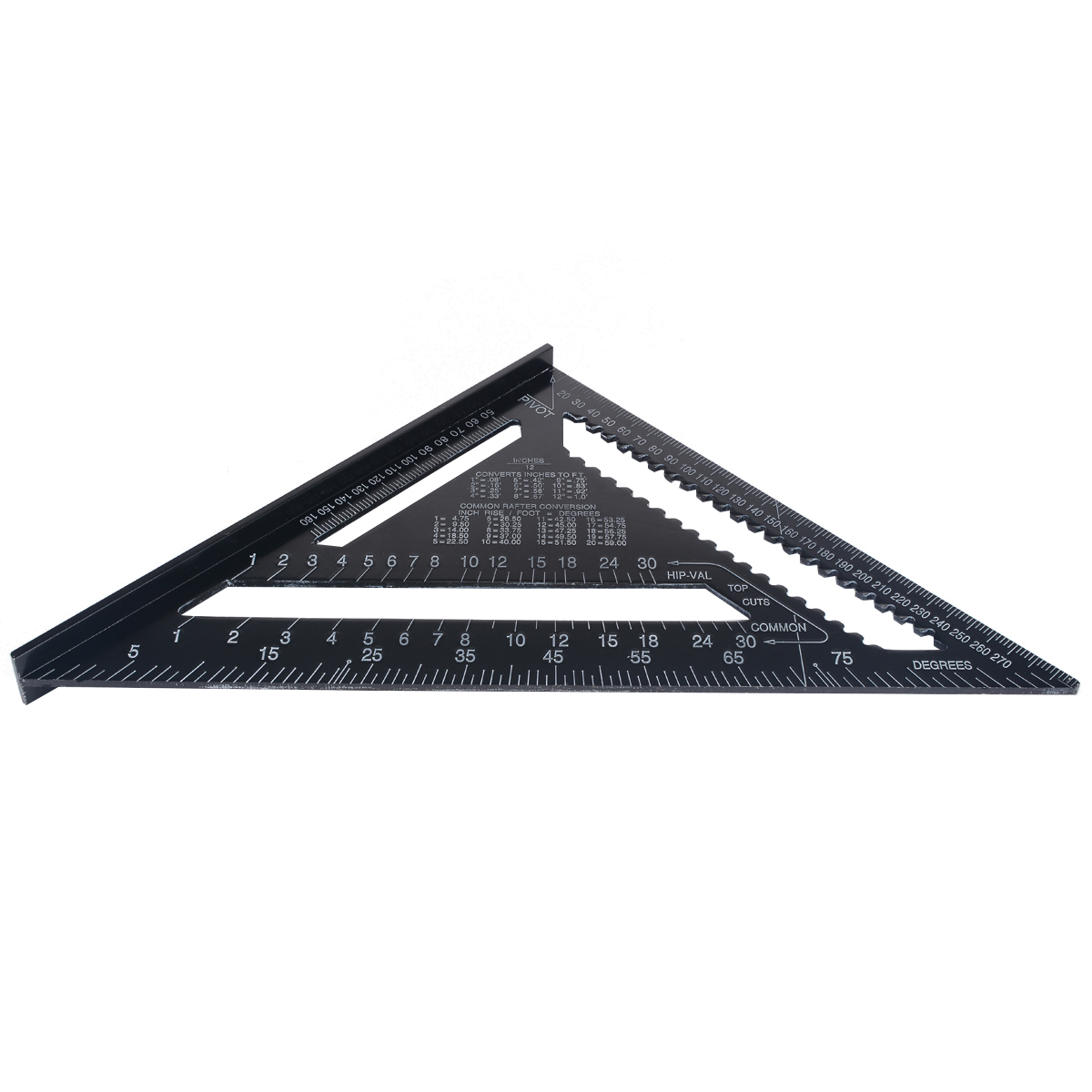 """Aluminum Alloy Square Triangle Ruler 12"""" Angle Frame Carpenter for Woodworking Square Angle Protractor Measuring Tools"""