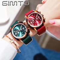 GIMTO 2018 New Watch Women Quartz Watches Relogio Feminino Women Wristwatch Dress Fashion Ladies Watch Waterproof Reloj Mujer