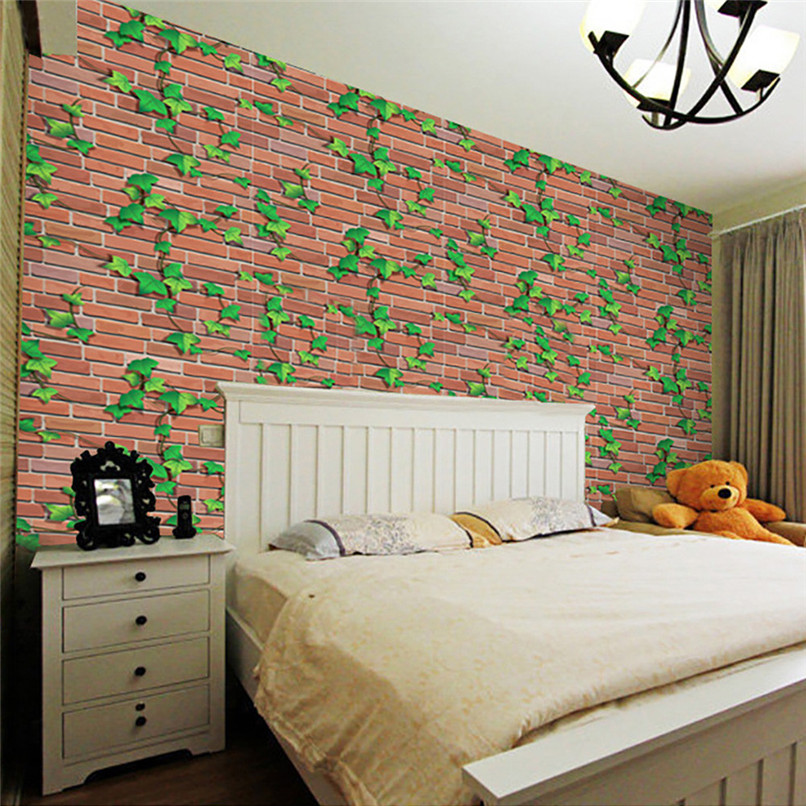 Rustic Wholesale Home Decor: 3D Wall Paper Brick Stone Rustic Effect Self Adhesive Wall