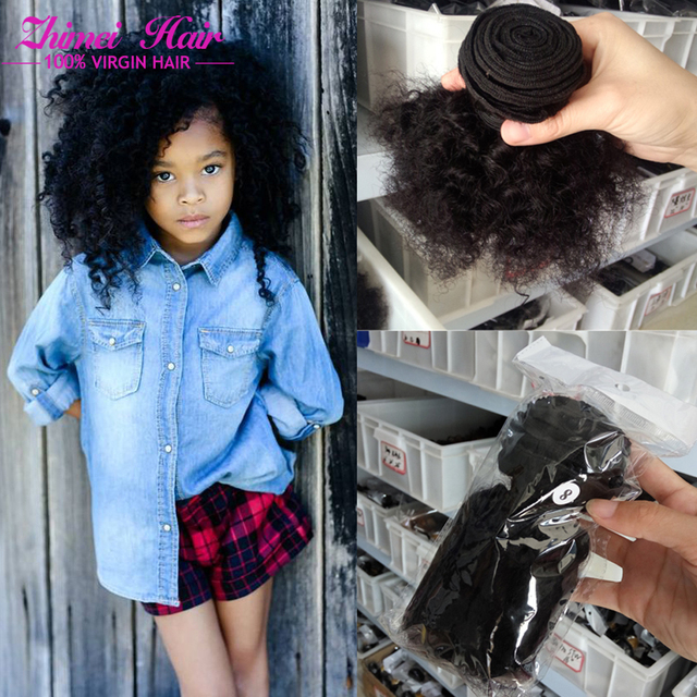 Short Weave Styles Malaysian Afro Kinky Curly Virgin Hair 3pieces