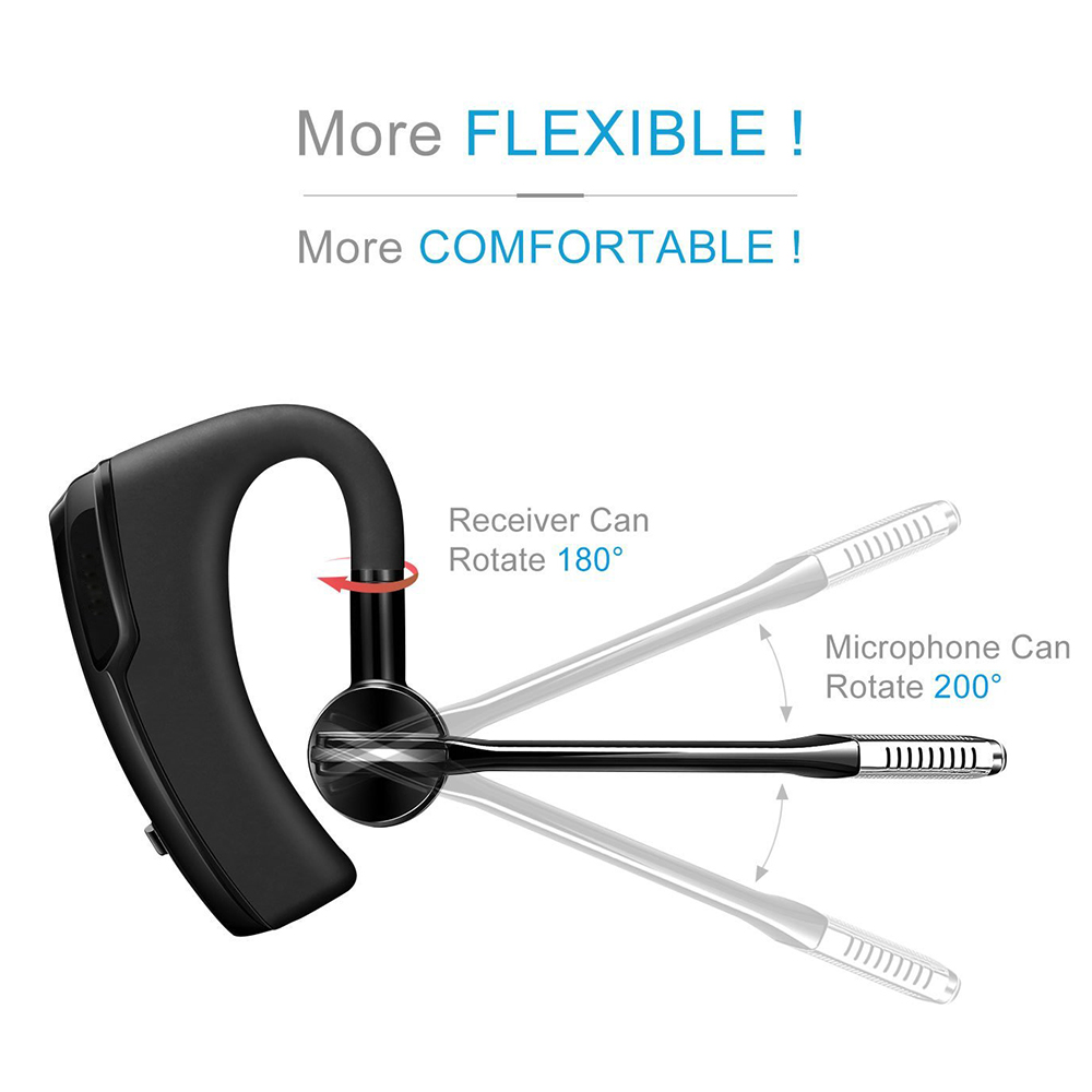 2019 Newest Bluetooth Headset K6 Wireless Bluetooth Earphone Earbuds Stereo HD Mic Handsfree Business Headset for smart phone PC