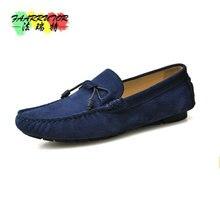 2017 повседневные Замшевые мужские Туфли ручной работы со шнурками для водителей слипоны Пенни-Лоферы дышащие водонепроницаемые Мокасины модная обувь на плоской подошве обувь для отдыха мужские
