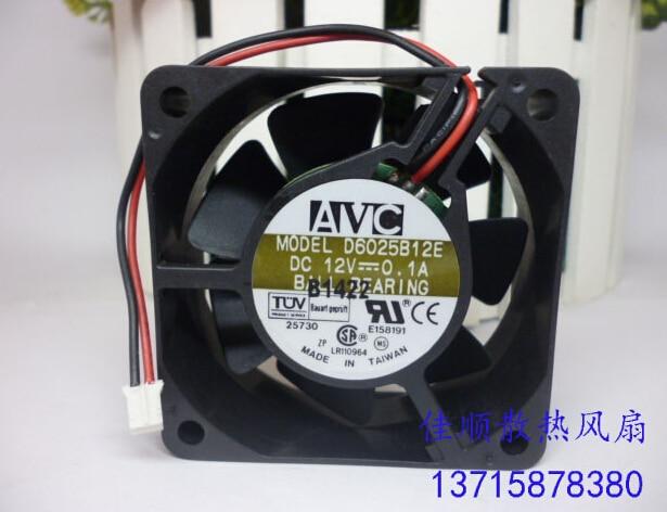 The original AVC 6025 12V 0.1A double D6025B12E 2 line double ball mute fan запонка arcadio rossi запонки со смолой 2 b 1026 20 e