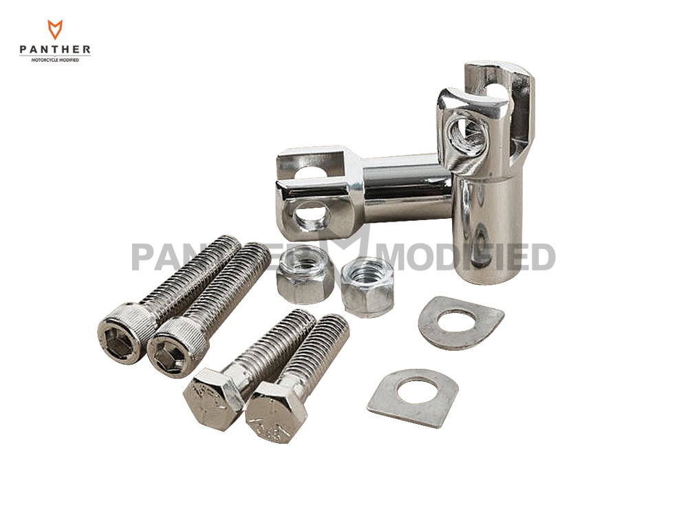 Chrome Motorcycle Foot Pegs Moto Foot Rest Supports Mounts Clevis Kit case for Harley Davidson Softail 2000 2001 2002 2003-2006