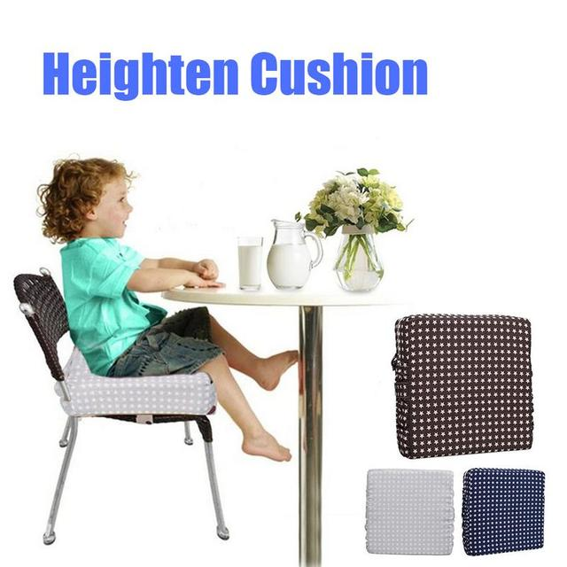 Us 13 39 33 Off Children Increased Pad Baby Booster Seat Cushion Adjustable Detachable Sponge Linen Baby Child Dining Chair Heightening Cushion In