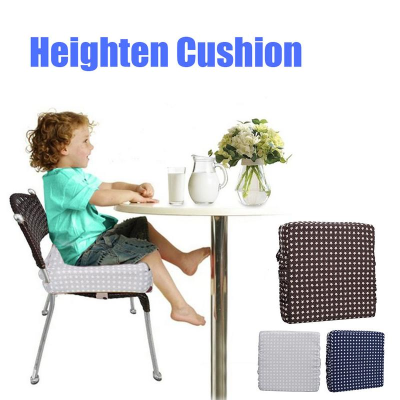 Children Increased Pad Baby Rehausseur De Chaise Adjustable Detachable Sponge Linen Baby Child Dining Chair Heightening Cushion