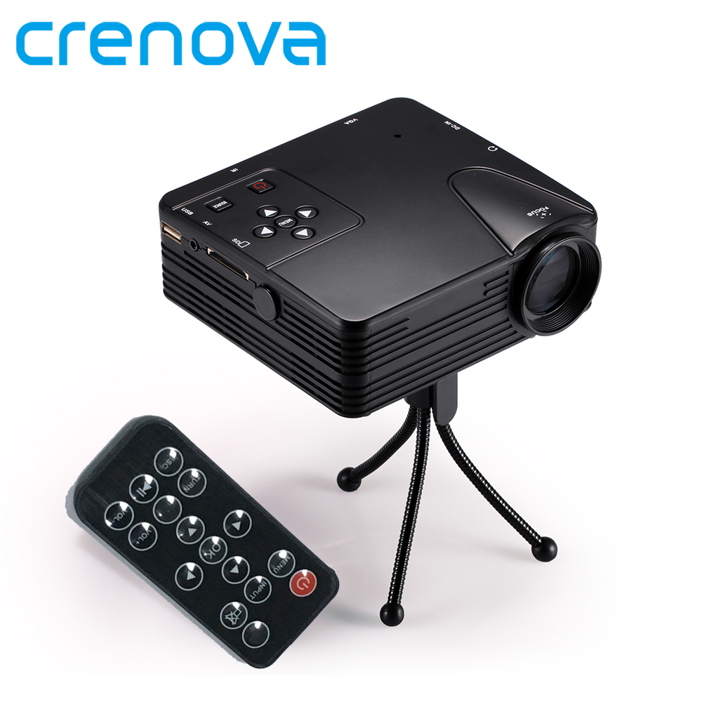 Crenova H80 Support Full HD 1080P Video Mini Portable LED Projector Screen Home Theater LCD Image System With AV USB VGA HDMI mini led lcd video projector 320 x 240 support 1080p av usb sd hdmi for home portable mobile projector for tv home theater