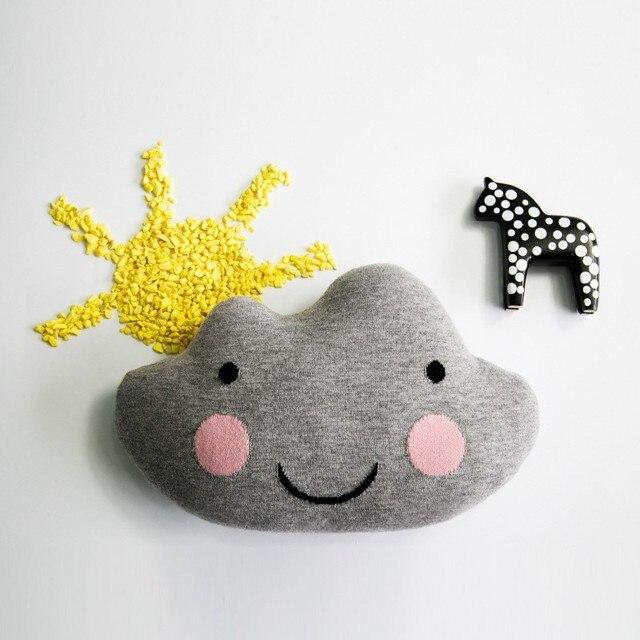 27 * 41 cm laine couverture oreiller coussin avec sourire tricot crochet jouets coussin enfants oreillers décoratifs pour lit poupées et peluches
