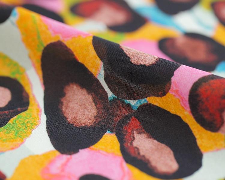 Tiskana svilena tkanina grafiti haljina svilena tkanina po mjeri - Umjetnost, obrt i šivanje - Foto 3