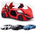 Lykan hypersport 1:32 diecast metal modelo de the fast and the furious simulación super sport car toys colección autos oyuncak