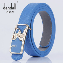 New Fashion Designer Belts For Women Luxury Brand Students Leather Belt Animal Pattern Smooth Buckle PU Simple Ceinture Femme