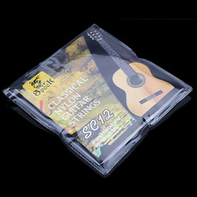 цена на SC12 Six Nylon Classic Guitar Strings Silver Plating String Set Super Light for Acoustic Guitar Musical Instrument