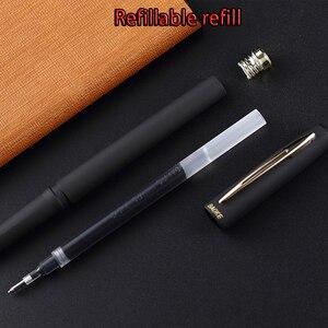 Image 5 - Оригинальная ручка Baoke с гелевыми чернилами 0,5 мм/0,7 мм/1,0 мм 12 шт. матовая нейтральная ручка большой емкости для школы и офиса