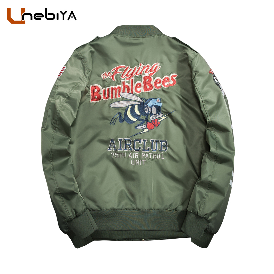 men clothes 2018 Pilot jackets alpha MA 1 flight light weight 70s 80s 90s bumble Bees Motorcycle style justin bieber jackets