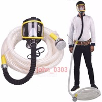 10M Long Tube Pipe Full Face Gas Mask Air Respirator W/C Cartridge Supplied Air
